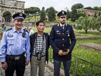 Polizia cinese insieme ai colleghi italiani della P.S.