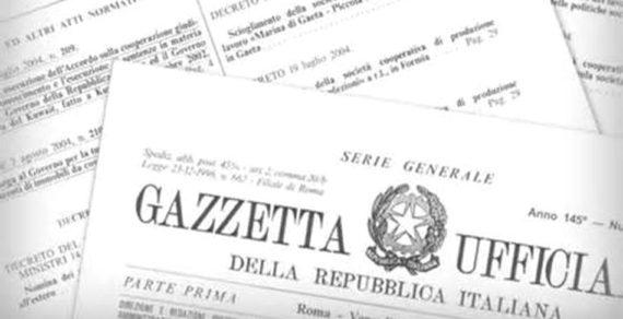 G.U.:cessione unita' navali italiane a supporto Guardia costiera