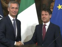 Nato: l'incontro di Stoltenberg con il ministro Conte