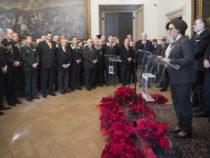 Palazzo Barberini: Difesa, Il tradizionale scambio di auguri