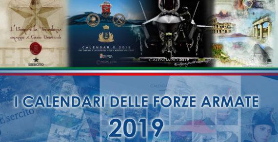 Presentati i calendari per l'anno 2019 delle Forze Armate