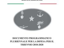 Documento Programmatico Pluriennale 2018-2020 al Parlamento