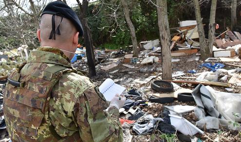 """""""Action day"""" interforze nella Terra dei Fuochi: Impegnanti anche i militari del 9^ Reggimento Fanteria Bari"""