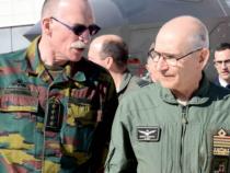 Aeronautica: Il Gen. Belga Compernol in visita al 32° Stormo