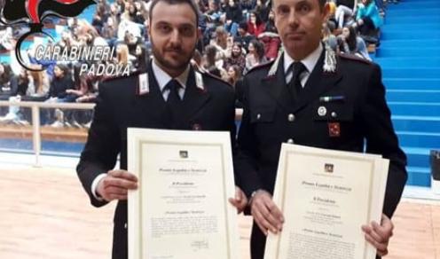 Giornata vittime di mafia: Premiati due carabinieri padovani
