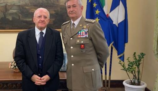 Forze Armate: De Luca incontra il Generale Tota