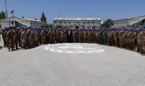 Unifil Libano: Visita del sottosegretario alla Difesa Raffaele Volpi