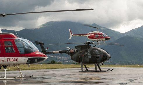 Addestramento al volo per l'Aeronautica Militare con i Vigili del fuoco