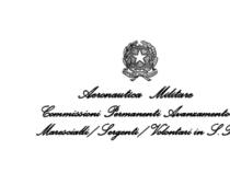 Attività delle Commissioni Permanenti Avanzamento Marescialli, Sergenti, Volontari in S.P. dell'Aeronautica Militare