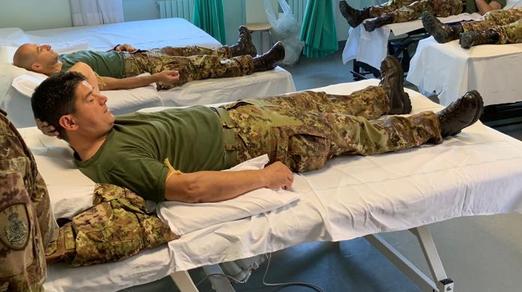 Solidarietà: Casa Sollievo della Sofferenza, donazione di sangue da parte del personale dell'Esercito