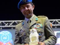 Salute: Il col. Carlo Calcagni alla ciclopedalata di Lioni
