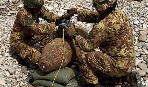 Veneto: Esercito disinnesca ordigno bellico risalente al secondo conflitto mondiale