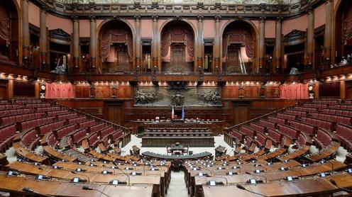 Politica: Taglio dei parlamentari, si parte nell'aula deserta