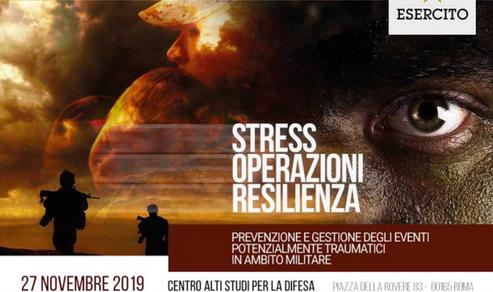 Convegno a Roma: Prevenzione e gestione degli eventi potenzialmente traumatici in ambito militare