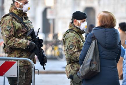 Coronavirus: Milano, contagiato un militare dell'Esercito