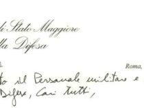 Lettera del Capo di Stato Maggiore della Difesa Enzo Vecciarelli a tutto il personale militare e civile
