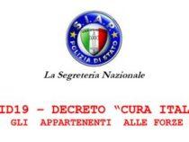 Covid-19: Decreto Cura Italia, le misure di interesse per i Poliziotti