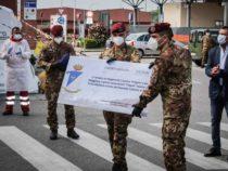 Parma: Consistente donazione del reggimento logistico Folgore all'Ospedale di Cisanello