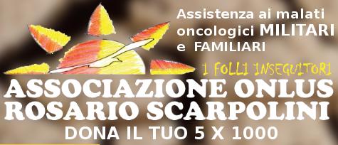 Associazione Scarpolini a tutela dei malati oncologici Militari e loro Familiari dona il 5 x 1000