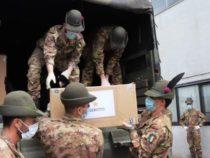 """Covid-19: Proseguono le attività degli alpini del Reggimento Logistico """"Taurinense"""" atte a fronteggiare l'emergenza"""
