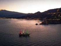 Marina Militare: Imbroncamento pennoni nave Vespucci
