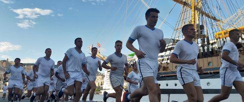 Marina Militare: L'attività fisica a bordo di nave Vespucci