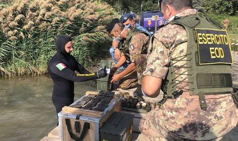 Bonifica di residuati bellici sul lago di Castel Gandolfo