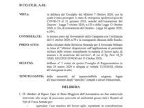 Aeronautica Militare: DELIBERA N. 1, Emergenza Covid-19