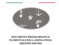 Il Documento Programmatico Pluriennale per la Difesa (DPP) triennio 2020-2022