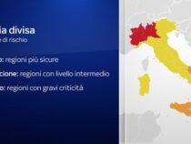 Il nuovo Dpcm: L'Italia divisa in zone rosse, arancioni e gialle