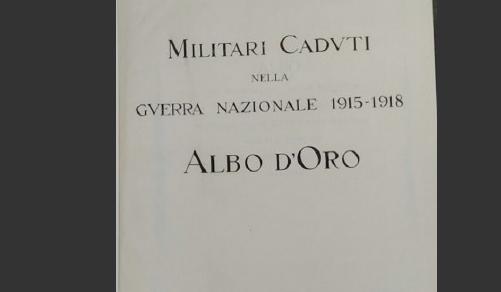 Caduti della 1ª guerra mondiale: Iniziate le procedure per la digitalizzazione fascicoli dell'Albo d'Oro