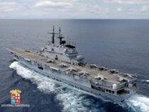 Marina Militare: L'incrociatore Portaeromobili Garibaldi torna nel Mar Mediterraneo