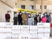 Solidarietà: Libano, Caschi Blu italiani consegnano alimenti