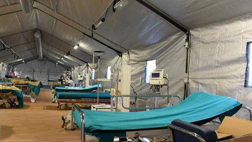 Legnago (VR): L'ospedale da campo allestito dagli uomini del Terzo stormo dell'Aeronautica di Villafranca è operativo